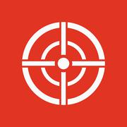 The aim bag icon. Crosshair and target, sight, sniper symbol. Flat Stock Illustration