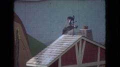 1966: a seal balances a bird on a stick in a show OHIO Stock Footage