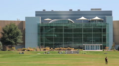 View of Museum of Nature and Science from the City Park. Stock Footage