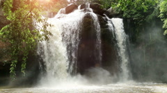 Haew Suwat waterfall with, Khao Yai National Park, Thailand. Stock Footage