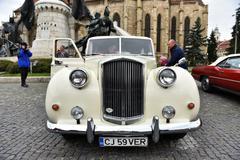 White Austin Princess British vintage car Stock Photos