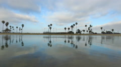 A landscape view of Mission Bay, San Diego. Stock Footage