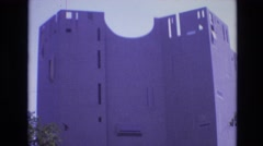 1974: a white colored magnificent building under the clear sky DENVER COLORADO Stock Footage