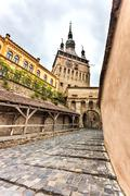 Sighisoara Clock Tower Stock Photos