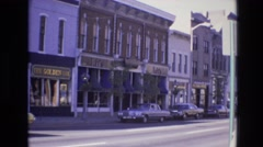 1974: cars parked alongside road city view driving DENVER COLORADO Stock Footage
