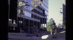 1974: walking throughout the city. DENVER COLORADO Stock Footage