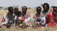 Maasai women at koiyaki guiding school graduation day in kenya Stock Footage