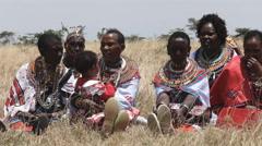 Maasai women at koiyaki guiding school graduation day in kenya Stock Footage