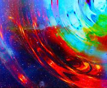 Cosmic space and stars with circle effect, color cosmic abstract background Stock Illustration