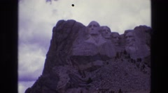 1974: the washington monument viewed from below at daytime SOUTH DAKOTA Stock Footage