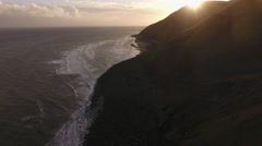 Aerial view of the Somerset coast. Stock Footage