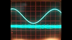 Sinewaves mathematical shapes Stock Footage