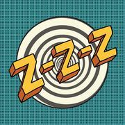 Zzz sound sleep and zumm Stock Illustration