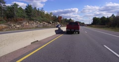 4K POV Driving on the highway in Muskoka Canada cottage country Stock Footage
