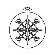 Sphere of Christmas season design Stock Illustration
