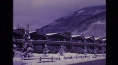 1974: snow area houses around roads hilly area fencing beautiful place VAIL Stock Footage