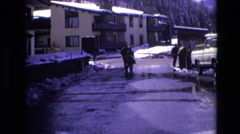 1974: the cold of winter VAIL COLORADO Stock Footage