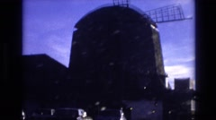 1974: view of a big windmill VAIL COLORADO Stock Footage