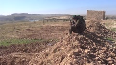 Syria - February 2016: Syria war - front line, ISIS war, SDF (YPJ,YPG) Stock Footage