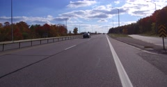 4K POV Driving on the highway in Muskoka  cottage country Stock Footage