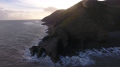 Aerial view of the cliffs in Porlock. Stock Footage