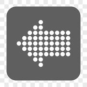 Dotted Arrow Left Rounded Square Button Stock Illustration