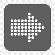 Dotted Arrow Right Rounded Square Button Stock Illustration