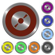 Color DVD disk buttons Piirros