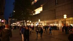 Munich at night - large Bavarian City Stock Footage