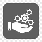 Mechanics Service Rounded Square Button Stock Illustration