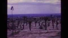 1973: view of some arid region with low habitations & scarce vegetations.  Stock Footage