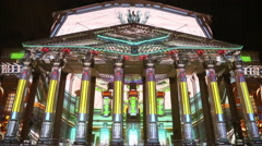 "Moscow international festival ""Circle of light"" Stock Footage"
