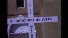 1973: the cross of saint francisco NEW MEXICO Stock Footage