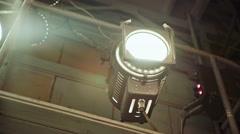 Theater spot lights Stock Footage