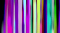 Flowing Down Curtain of Rainbow Color Liquid Lines Stock Footage
