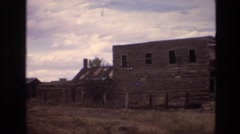 1973: wooden building in the middle of a ghost town NEW MEXICO Stock Footage