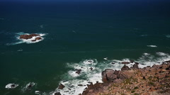 Cabo da Roca (Cape Roca), Portugal.  The most westerly point of mainland Europe. Stock Footage