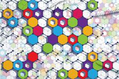Colorful geometric backdrop Stock Photos