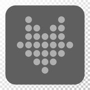 Dotted Arrow Down Rounded Square Button Stock Illustration