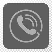 Phone Call Rounded Square Button Stock Illustration