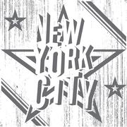 New York City grunge typography poster, t-shirt Printing design, vector Badge Stock Illustration
