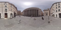The Hadrianeum, or Temple of Divus Adrianum, Rome Italy, 360 video VR Stock Footage