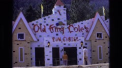 1968: old king cole's fun castle tourist attraction 1960's COLORADO Stock Footage