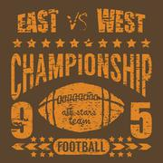 Football sport typography, t-shirt Printing design graphics, vector poster, B Stock Illustration