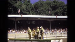 1968: outdoor circus like scene people performing crowd viewing COLORADO SPRINGS Stock Footage