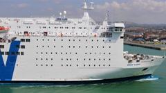 4K SNAV Lazio cruise ferry boat, Naples waterway Stock Footage