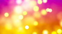 HD Loopable Background with nice abstract golden bokeh Stock Footage