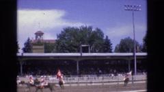 1968: horses and riders parade around stadium COLORADO SPRINGS COLORADO Stock Footage