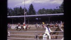 1968: contestants waving to the crowd at a horse show. COLORADO SPRINGS COLORADO Stock Footage