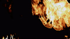Fire blast slow motion Stock Footage